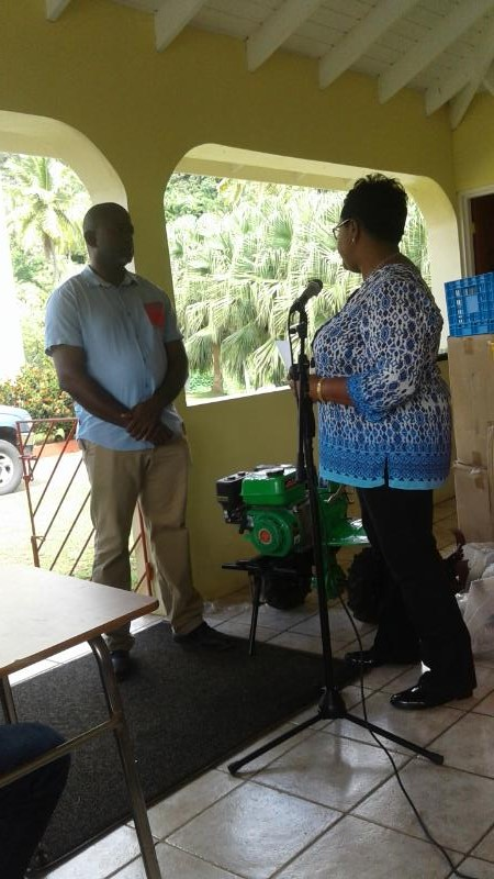ssdf yap PO Allain presenting MOU on use of Equipment to Mr Fevrier